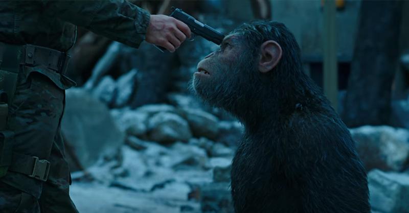 《猩球崛起:終極決戰》預告出爐,1:46人類與猩猩結盟了對抗人類?!