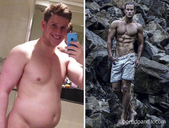30個證明你也可以變天菜的「超勵志減肥前後對比圖」,#17從胖宅變模特兒男神!