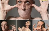 全世界皮膚最鬆「超狂伸縮橡皮人」,脖子直接「拉起來當口罩」!
