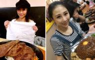 41公斤嬌小台灣正妹大胃王,她「80分鐘吞食95盎司巨牛排」超誇張!(影片)