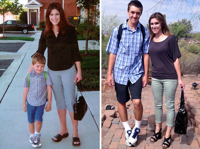 16張「第一天上學VS最後一天上學」感人對比照。#6就是父母的美夢成真!