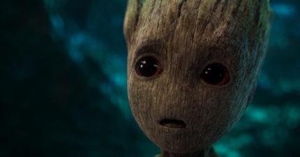 最新《星際異攻隊2》預告片,發現小格魯特完全就只想毀滅世界...