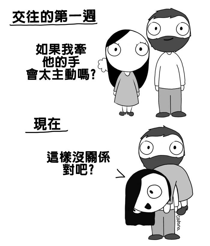 11則「只有真心愛過才看得懂」的情侶相處閃瞎眼漫畫。#6女生不知道「男生真正擔心的事情」