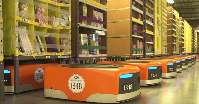 亞馬遜購物網公布「倉庫管理機器人」內部影片震驚全網路,誰還會想用人類?!
