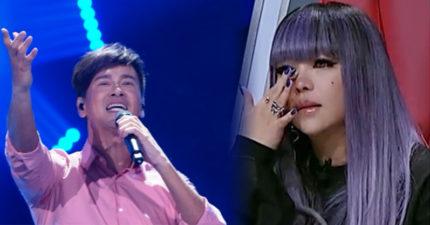 李聖傑台上唱出張惠妹不敢唱的《聽你聽我》,讓阿妹一時激動爆淚!