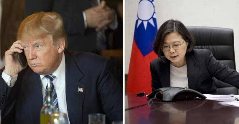 中國外交發言人表示川普小英通電話,只是「台灣的小伎倆」...