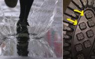 買新鞋沒注意到鞋底,下雨後「地上出現的印子」讓他嚇壞超傻眼!