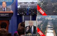 川普砲轟媒體造假「就職典禮有250萬人!」,但媒體反抓包「抗議人數比參觀民眾還多」!