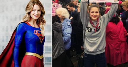 「女超人」梅利莎參加女權遊行時嗆「來抓我的鋼鐵鮑鮑」,完美KO川普「隨便抓女人下體」言論!