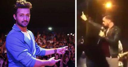 歌手看到女觀眾被男子性騷擾,霸氣地「停下所有演奏」拯救她全場沸騰!