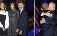 歐巴馬告別演說感謝家人「你們讓我驕傲」灑淚,讚副手「你是我的兄弟」逼哭支持者!