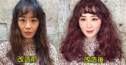 6張「從普女變女神」超神起死回生化妝術照「正到無法信任」,韓國化妝師本人也超正的!