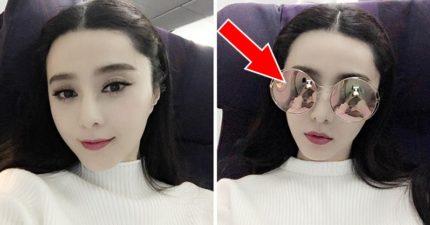 范冰冰搭飛機分享超水自拍照,墨鏡卻「變成照妖鏡」當場露餡!網友罵:妳太不優雅了!