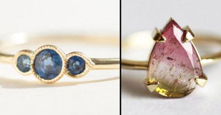 31款「比鑽石還更特別」的絕美非典型訂婚戒。#27永遠指向真愛!