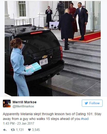 網友注意到梅蘭妮亞「成為第一夫人超不開心」,開始擔心起她了...
