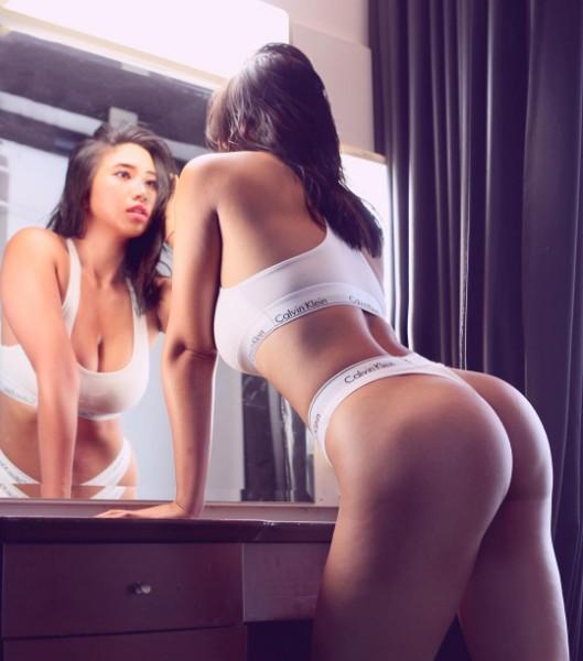 台灣第一翹臀女神讓網友驚呼「幹掉9成西方美女」!側乳更是震撼到不行!
