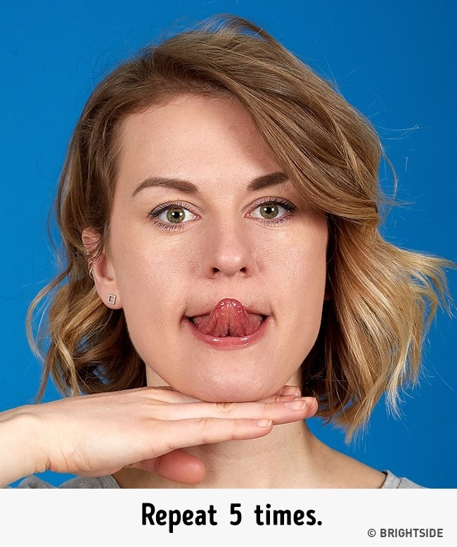 7招「雙下巴變小V臉」的簡單臉部運動 簡單耍醜幾步驟幫你打造完美臉型!