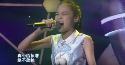 11歲女孩唱「阿妹不敢唱」的歌,「1:55的爆發」把不相信她的評審嚇傻!