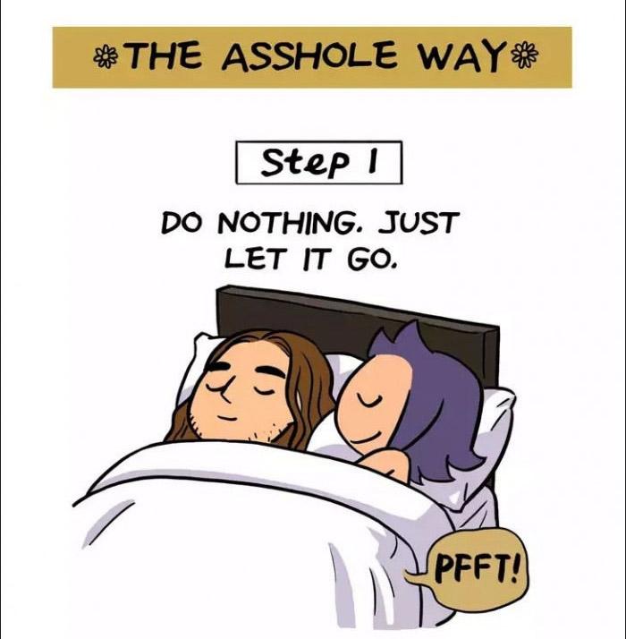 6種超可愛跟另一半「同睡一張床時放屁指南」。#5「毀滅法」的後果太爆笑了!