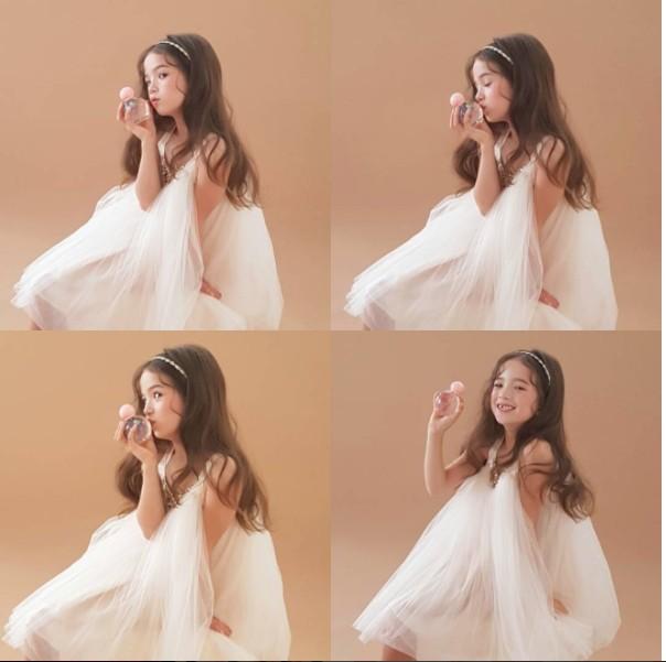 仙女級「英韓混血」小蘿莉直接攻破你的心房,網友直呼:「從油畫裡走出來的!」(11張)