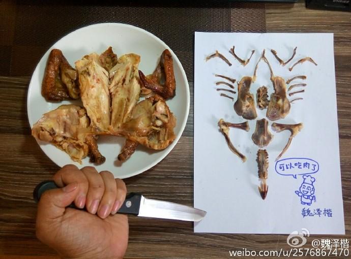 他點了兩份肯德基用骨頭「讓炸雞重獲新生」 成品帥到網友吶喊:來玩我食物!