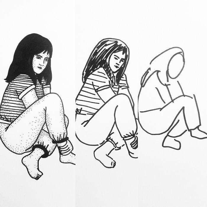32張在「10秒、1分、10分鐘內完成」的限時手繪驚奇插畫,#5「小叮噹3階段變身」太犯規!