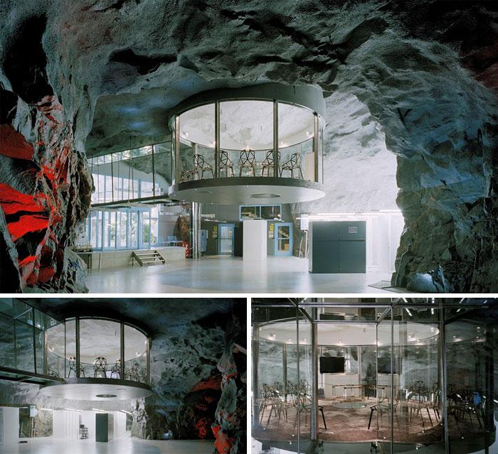 Bahnhof Office Built Into A Former Anti-Atomic Shelter, Stockholm, Sweden