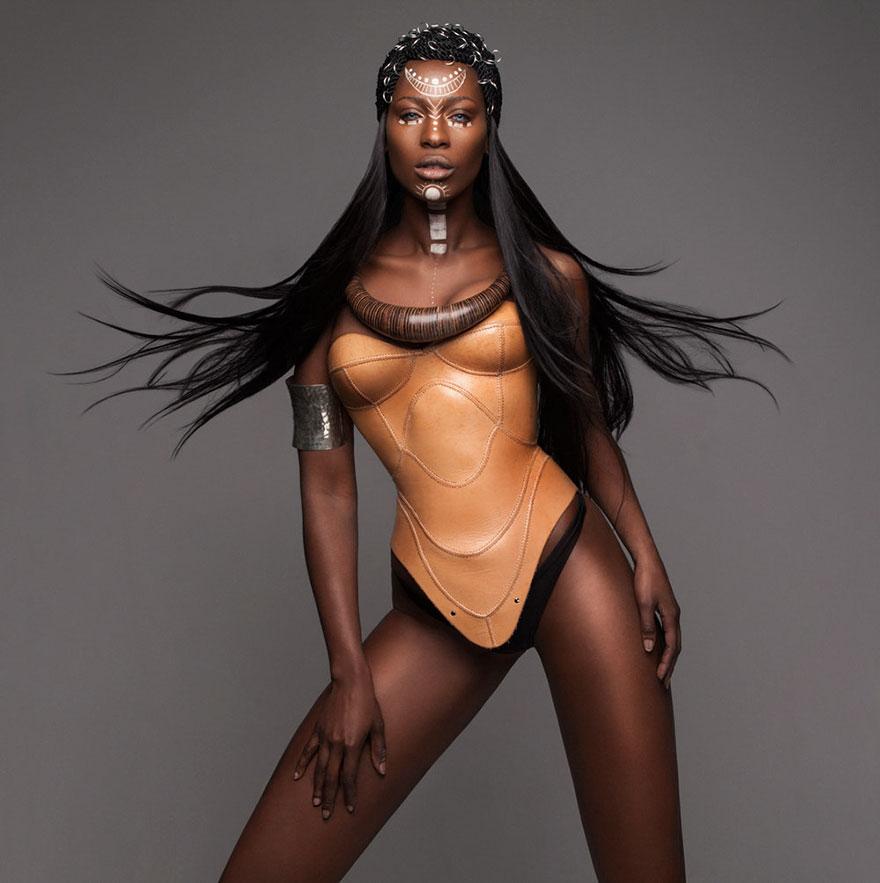 16張證明我們髮型其實超土的「結合力與美超炫非洲時尚髮型」,#3 根本JoJo冒險野郎!