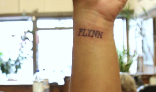 The whole experience was so enjoyable, that it inspired Jared (the cameraman) to get a tattoo of his daughter's name too!