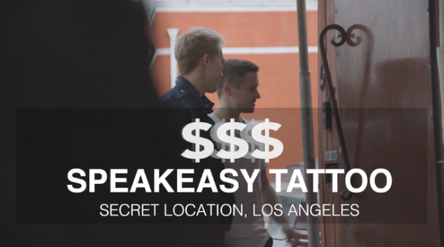 Last up was Speakeasy Tattoo, a private studio and the most high-end place one can get a tattoo. Before he agrees to designing and making a tattoo, artist Scott Glazier has a consultation with clients about what their piece means -- if he's stoked about the project, he'll do it. If not, he won't.