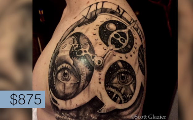At the end of the day though, which tattoo (at it's given price point) was worth it? Ben's winner was Speakeasy. To him, the piece was so personal, impactful and beautiful, that he felt he couldn't put a pricetag on it.