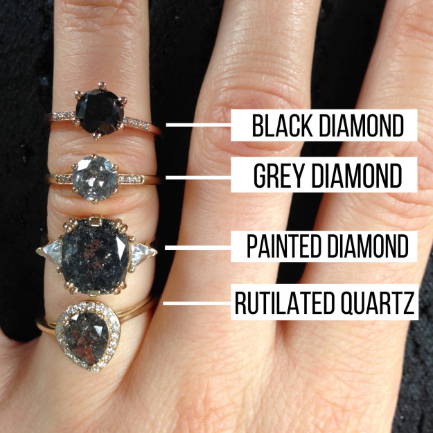 If you want the grey diamond look for less, go for rutilated quartz.