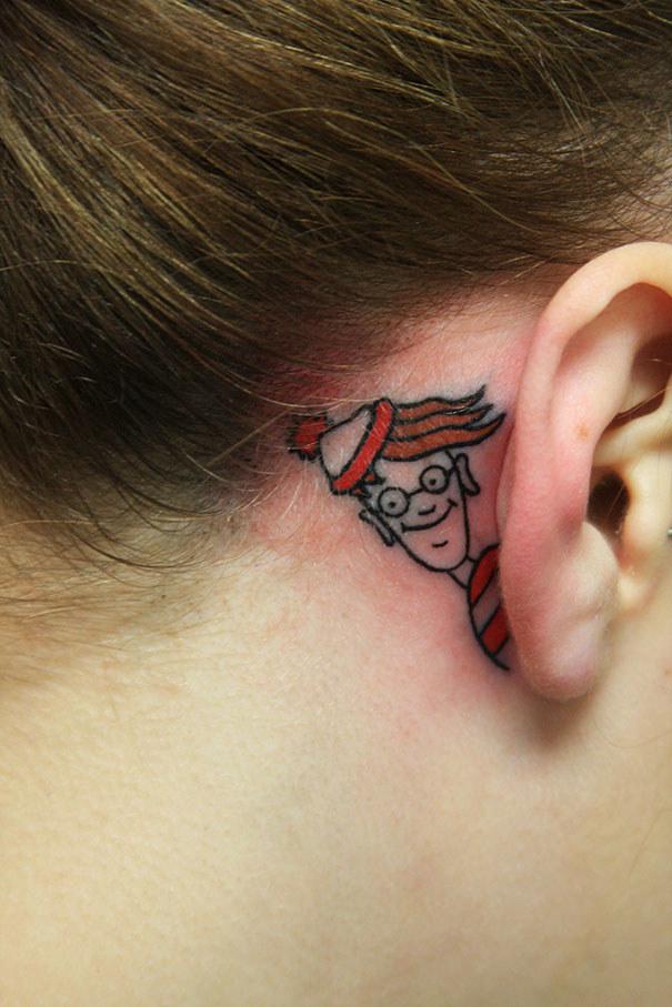 20個完美結合「違和感是0」的超美創意刺青!#3第一位登陸乳頭的人!