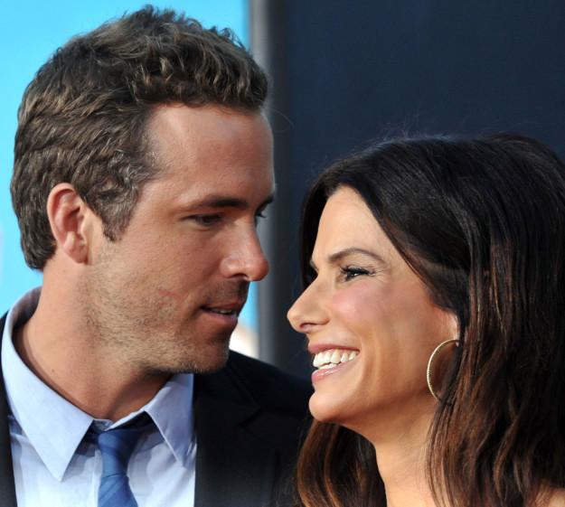 Ryan Reynolds with Sandra Bullock: