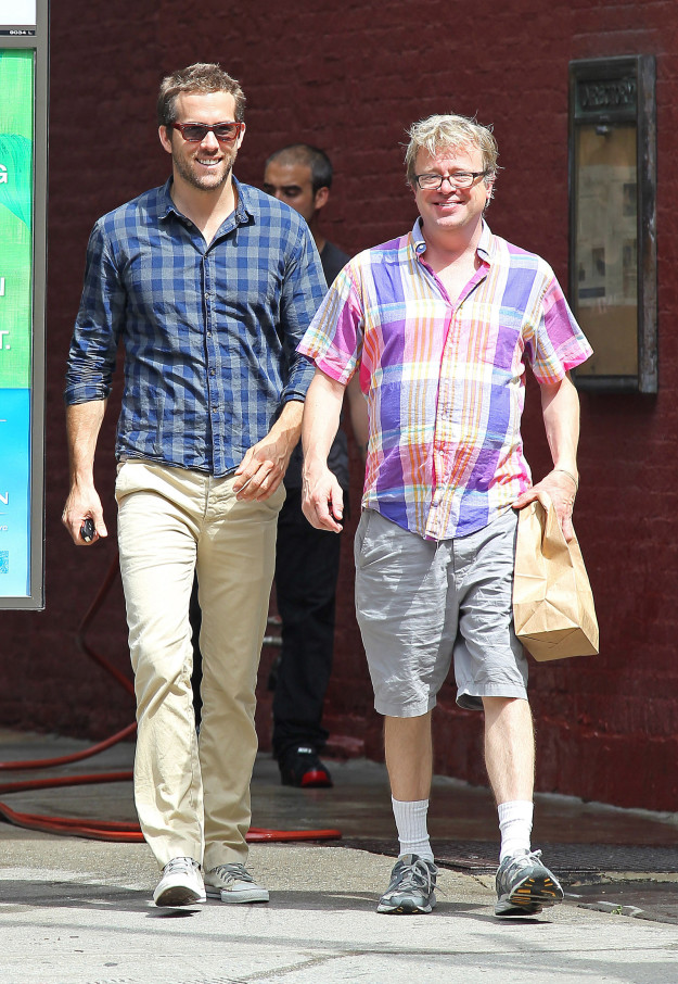 Ryan Reynolds next to an old man: