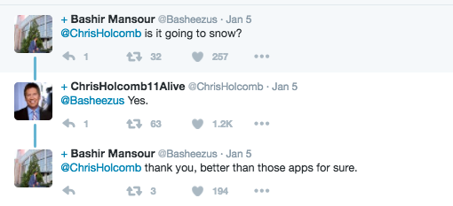資深氣象預報員被女兒質疑「App說不會下雪」,傷心老爸神回「讓天氣APP幫妳付學費」。