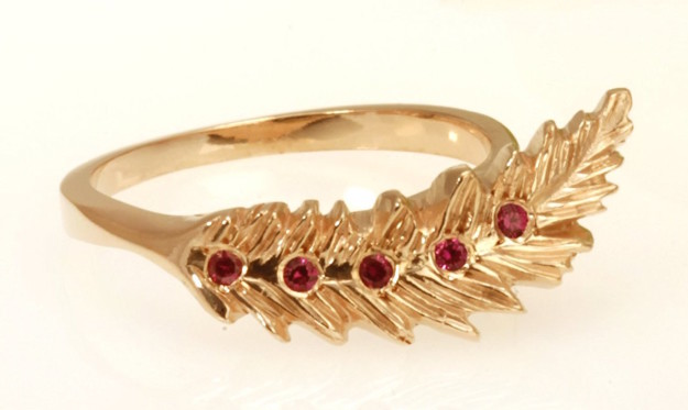 A stylish ruby ring that's as light as a ~feather~.