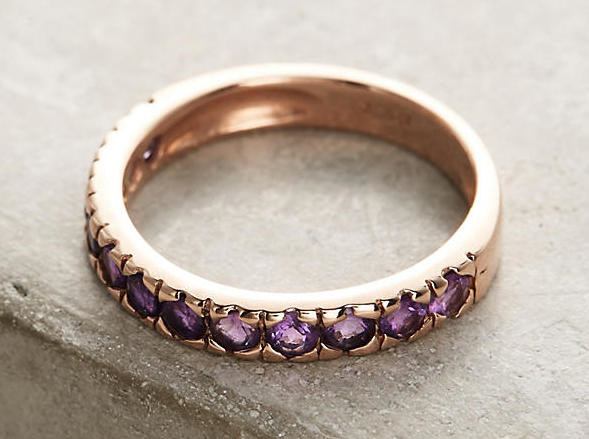 A sophisticated amethyst ring that won't play second fiddle to any other ring.