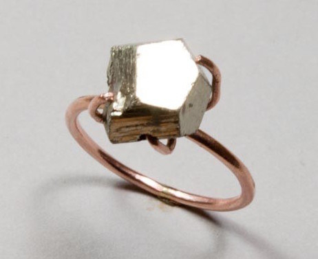 A chunky pyrite ring that's reflective of a loving relationship.