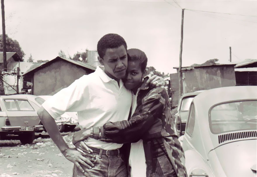 Barack Obama And Fiancée, Michelle, In Kenya, 1992