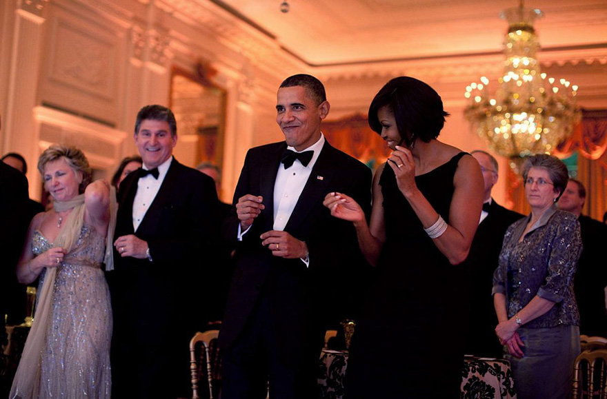 Barack And Michelle Showing Some Moves