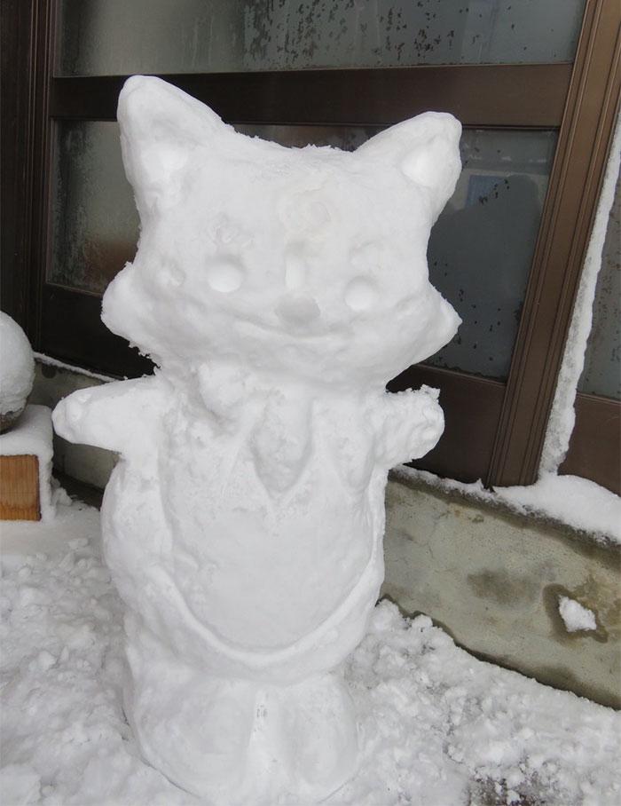 27張日本網友將「2D變成3D」的超可愛日本雪人作品!#2幼稚園小朋友都哭慘了。