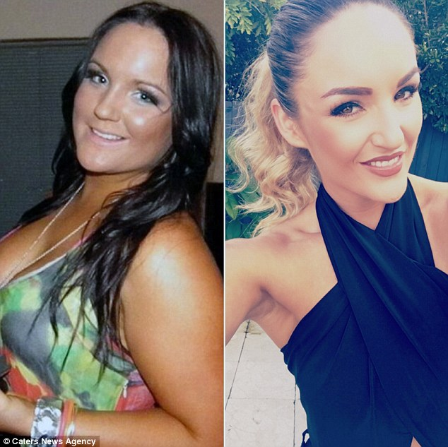 'After the shock of realising how much weight I had put on had worn off, it made me look at my party lifestyle and I realised I had actually let myself go,' she said.