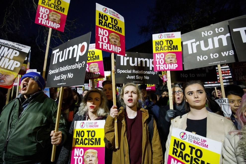 川普上任爆抗议 民众叹:美国更分裂了