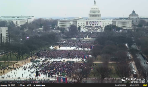 Here's a visual of Trump's inauguration crowd at 11 a.m. EST, shortly before he was sworn in.