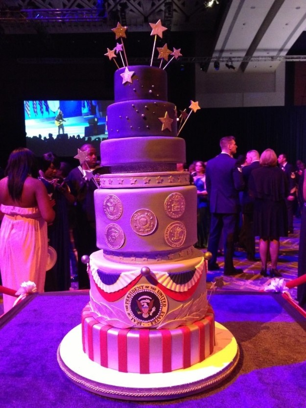 This is the cake served at former President Obama's Commander In Chief Ball on Jan. 21, 2013, after his second inauguration.