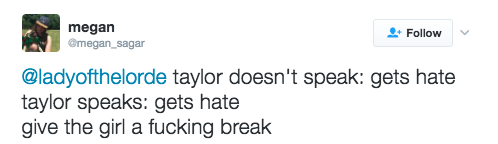 But other fans came to Swift's defense: