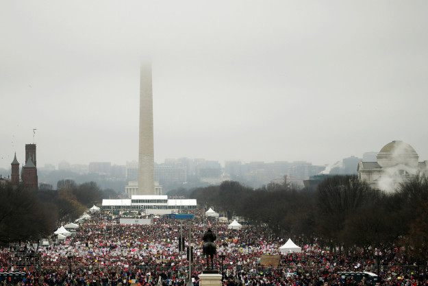 Women marched on Washington, DC, and cities around the world on Saturday to protest President Donald Trump.