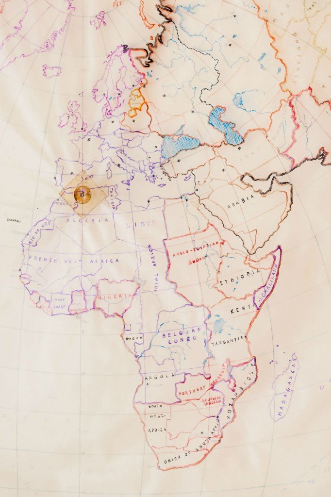 """There were a number of hand-drawn maps found, all with a """"center"""" noted on them."""