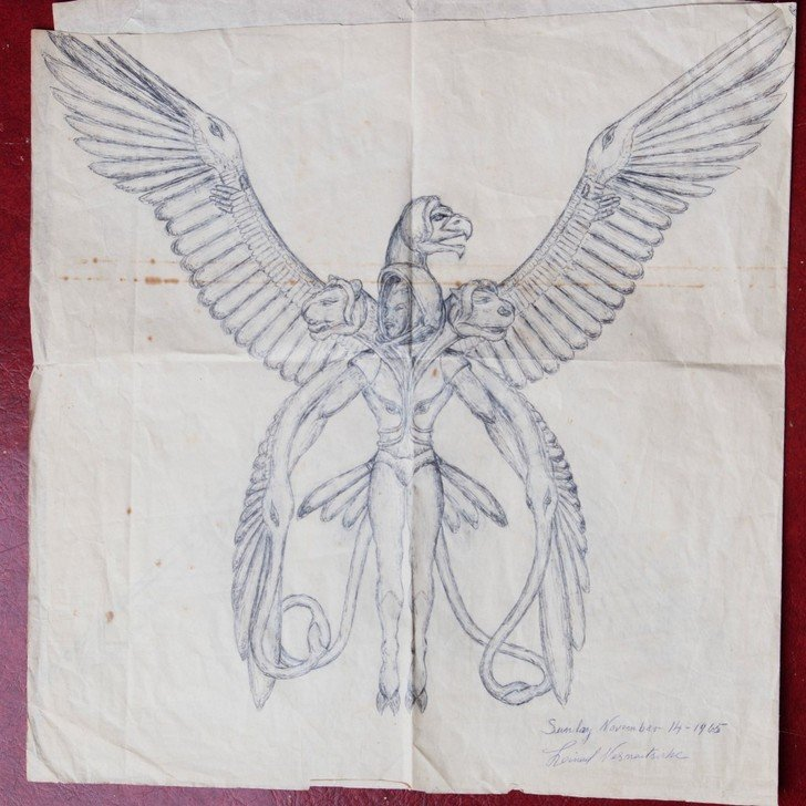 A more detailed drawing of the entities. Dated 1965.